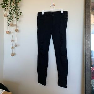 STS Blue Distressed Black Skinny Jean Size 29